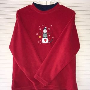Fleece C&B Snowman Christmas Sweater